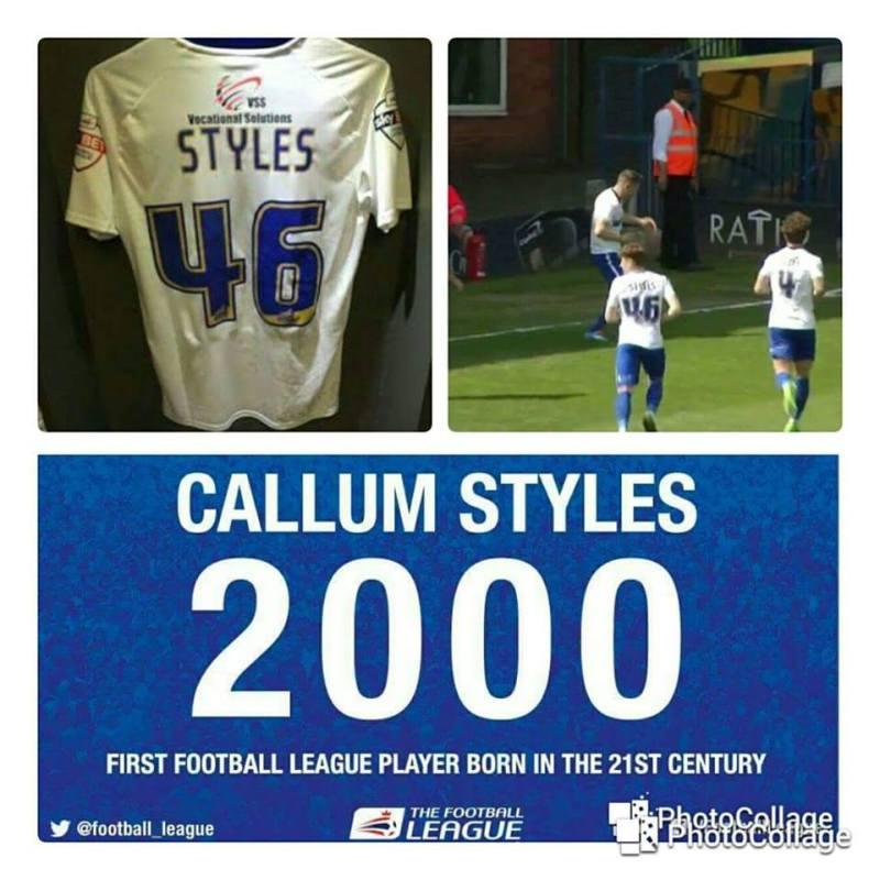 Callum Styles Bury FC Footballer